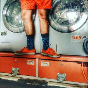 Orange Sky Laundry Socks