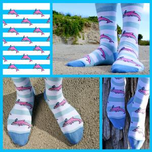 Soxy Beast - The Dolphin Pete Socks look
