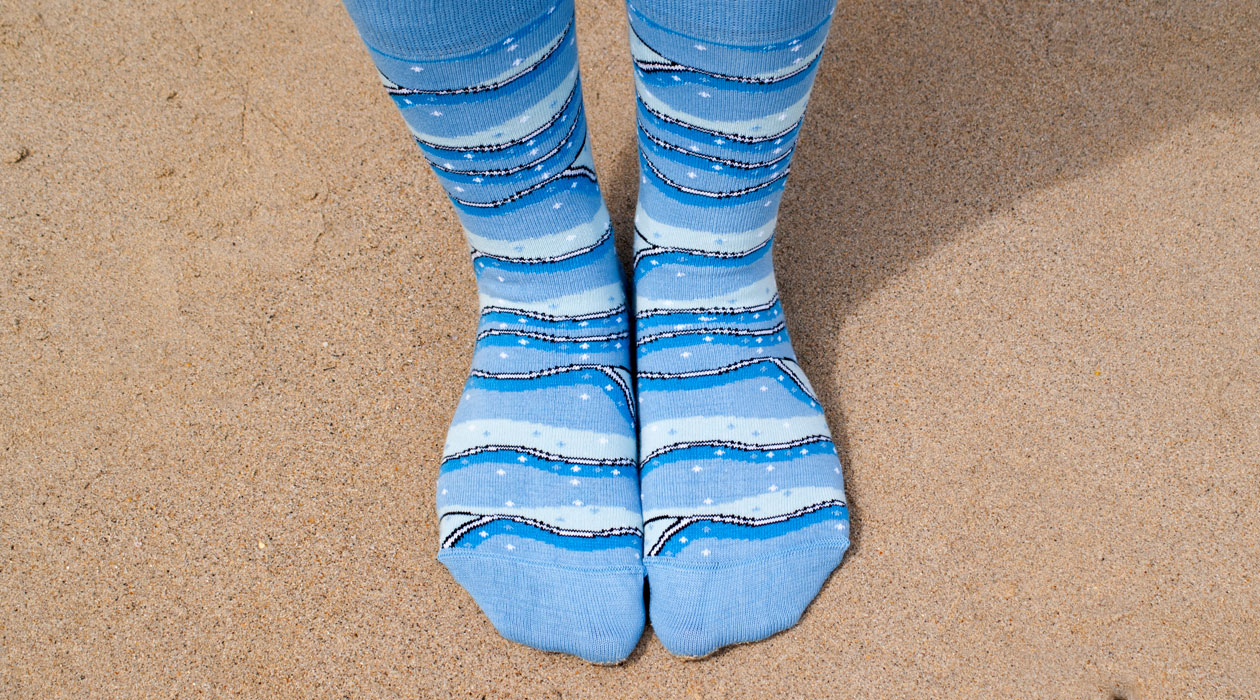 Soxy Beast - The Wave Style Socks