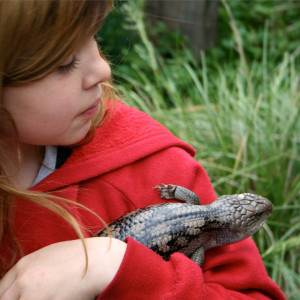 Eco Centre Girl with Lizard photo